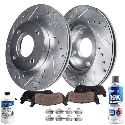 262mm Front Drilled Brake Rotors Pads for 97-05 Honda Civic/ Acura EL - See Fitment