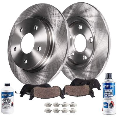 Rear Disc Brake Rotors + Ceramic Pads | Ford Lincoln Models