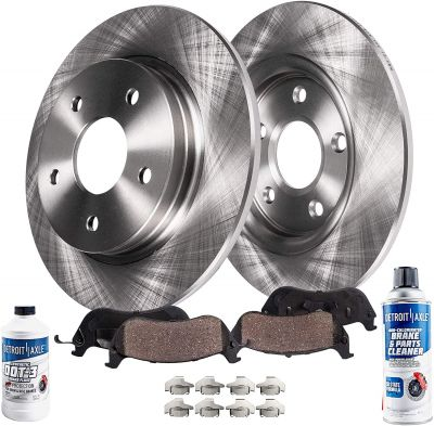 Rear Disc Brake Rotors Ceramic Pads w/Hardware for 2005 - 2010 Honda Odyssey