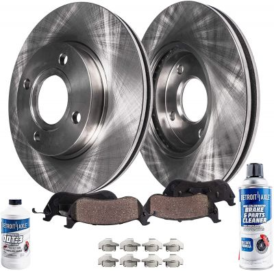 Front Disc Brake Rotors Pad for Nissan Cube Sentra Versa - See Fitment