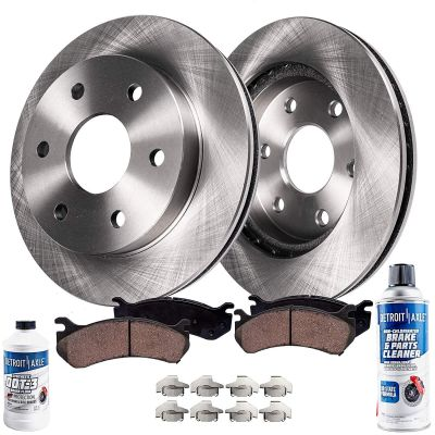Rear Disc Brake Rotors and Ceramic Pad Kit