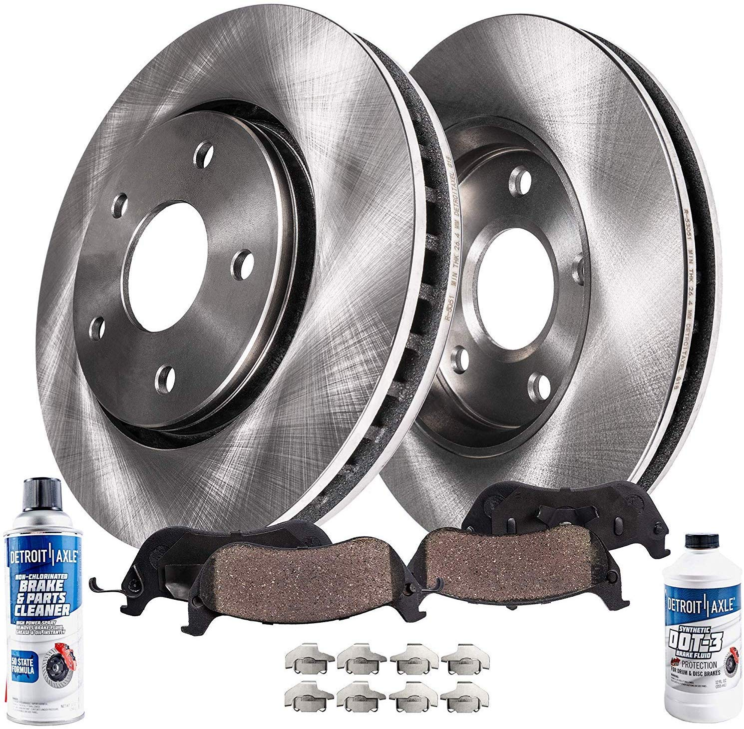 6pc Front Brakes Rotors + Ceramic Pads For 2014-2017 Nissan