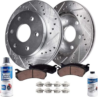 Front DRILLED Brake Rotors + Ceramic Pads for Buick Chevy GMC Saturn