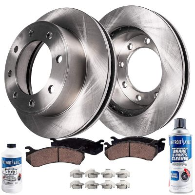 Rear Disc Brake Rotors & Pads | Ford F-250 F-350 Super Duty