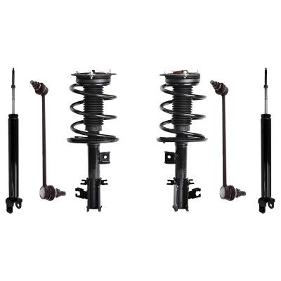6pc Front Strut Sway Bars Rear Shocks | 07-12 Nissan Altima