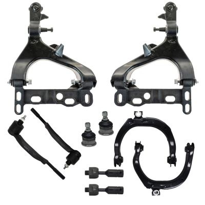 10pc Front Suspension Kit for Chevy Trailblazer GMC Envoy - 14mm Tie Rods