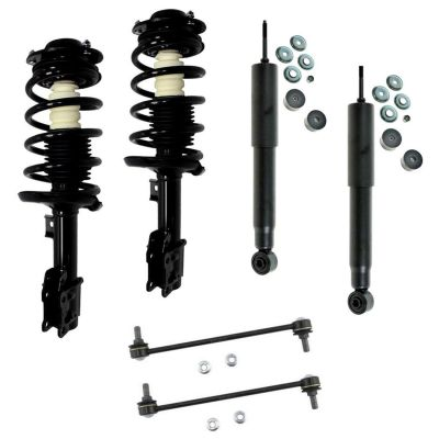 6pc Front Struts Rear Shocks + Sway Bars for Chevrolet Pontiac Saturn