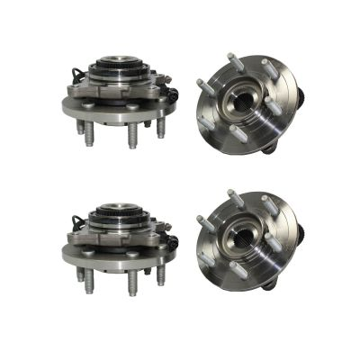 4pc Front & Rear Wheel Bearing + Hub Set for 2007-2010 Ford Lincoln