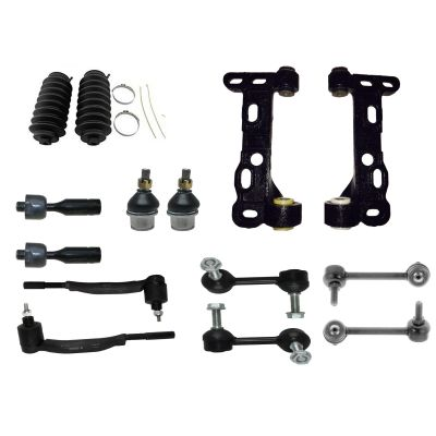 14pc Front Lower Control Arm Kit for Chevy GMC - 14mm Tie Rods