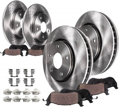Front & Rear Rotors + Pads for Chrysler Dodge - Single Piston Caliper