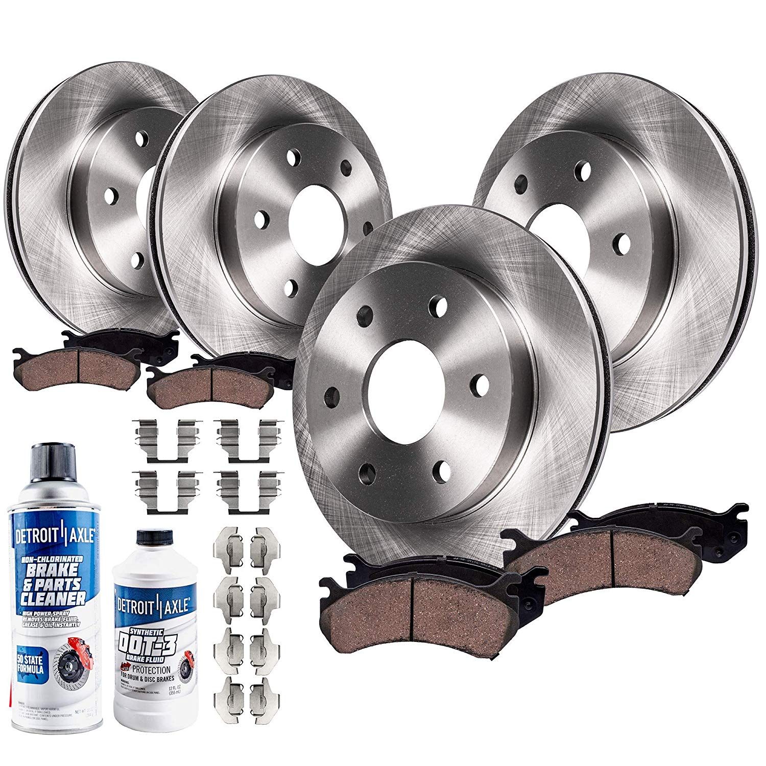 2004 2005 Chevy Avalanche 1500 4WD Rotors Metallic Pads R OE Replacement