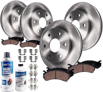 FRONT & REAR Disc Brake Rotors + Ceramic Pads for 2007-2017 Chevy GMC