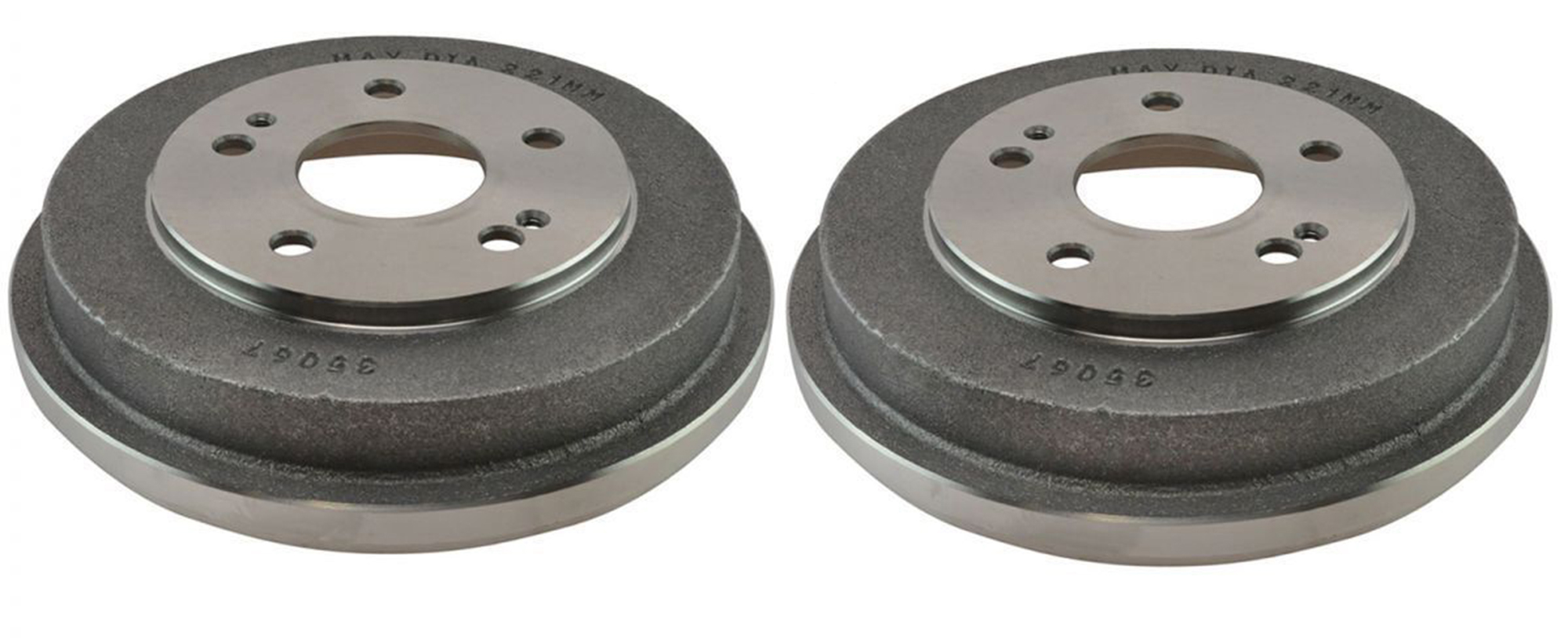 Pair (2) Premium REAR Brake Drums - Check Fitment Chart