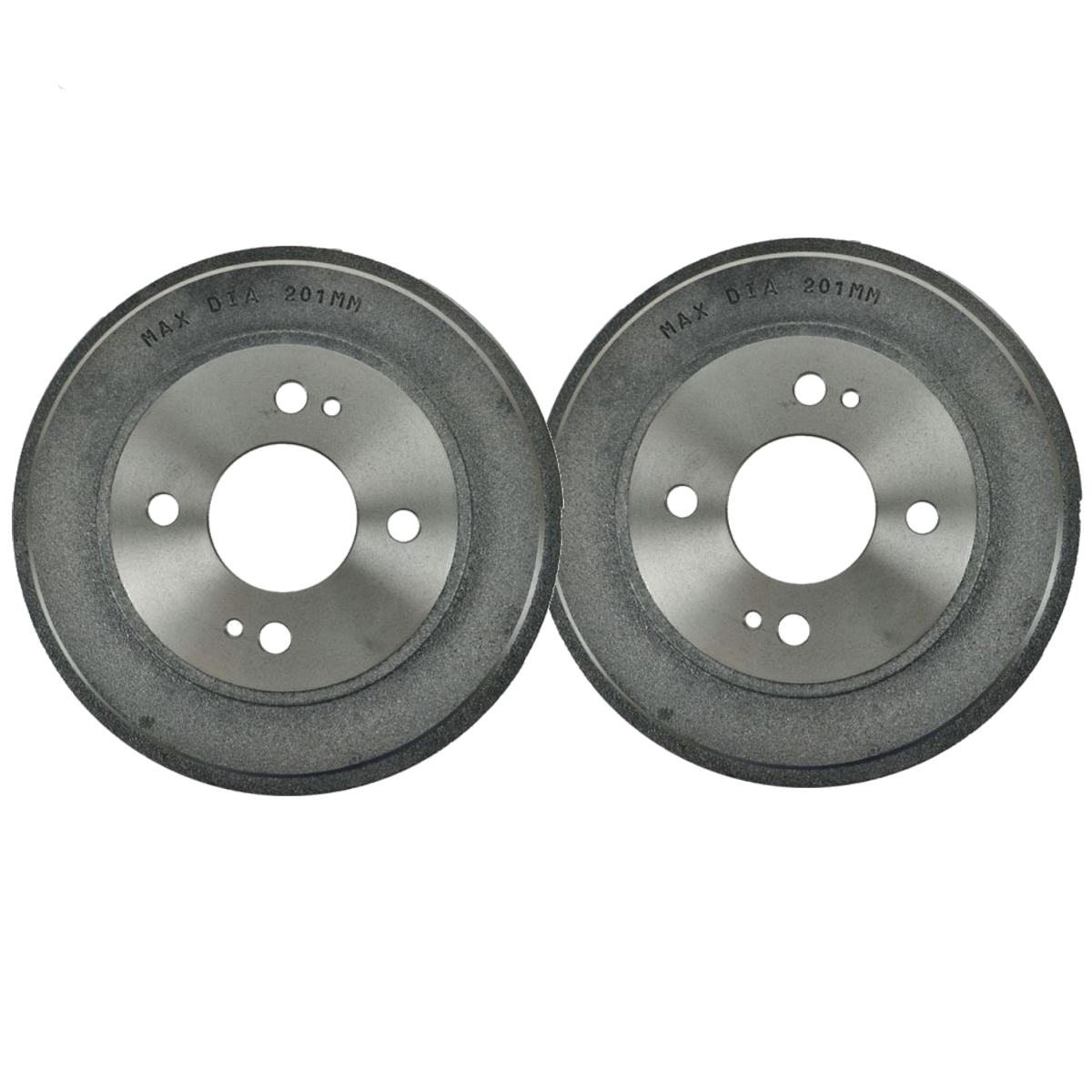 Pair (2) REAR  Brake Drum Set for Honda Civic FIT Insight