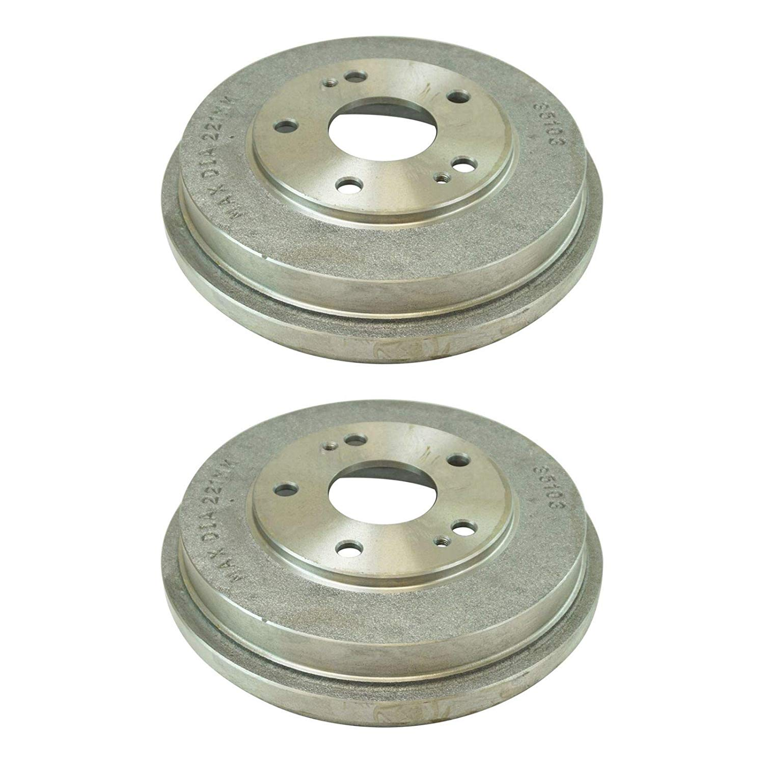 Pair (2) Rear Brake Drums for 2003-2007 Honda Accord