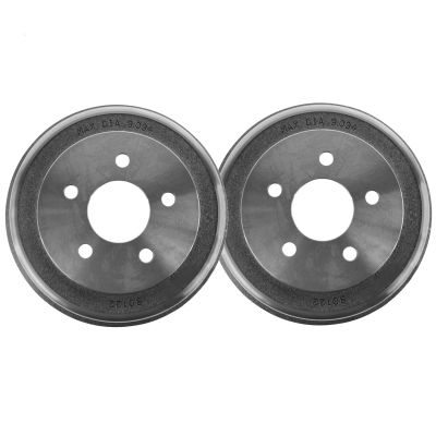 Pair (2) 5-Lug Rear Brake Drum Set - Check Fitment Chart