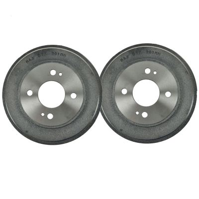 Pair (2) REAR Brake Drum  for Chevrolet Prizm Geo Prizm Toyota Corolla
