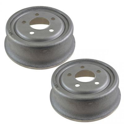 Pair (2) Rear Brake Drums for 1990-2006 Jeep Wrangler - [1990-2001 Jeep Cherokee] - 1999-2006 Jeep TJ