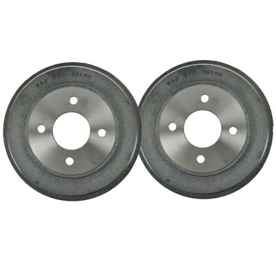 "Pair (2) 10.66"" (271mm) 4-Lug REAR Brake Drum Set for Chevy Cobalt Pontiac G5 Pursuit Saturn ION"
