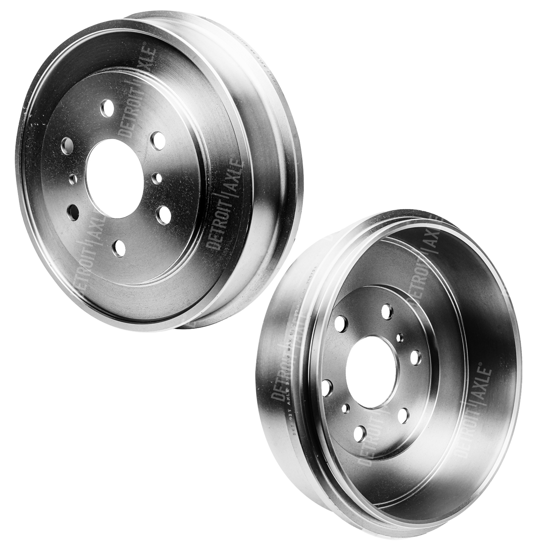 Pair (2) Rear Drum Brake Rotors for Chevrolet Silverado 1500 GMC Sierra 1500