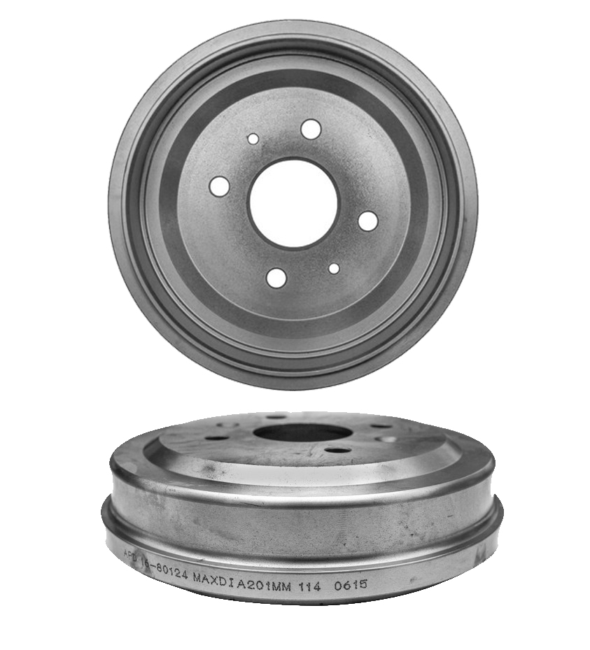 Pair (2) Rear Brake Drums for 2004-2011 Chevy Aveo - [2007-2011 Chevy Aveo5] - 2013-2017 Chevy Spark - [2009-2010 Pontiac G3] - 2005-2008 Pontiac Wave - [2005-2007 Pontiac Wave5] - 2004-2006 Suzuki Swift+