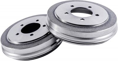 Pair (2) 5-Lug Rear Brake Drum Set