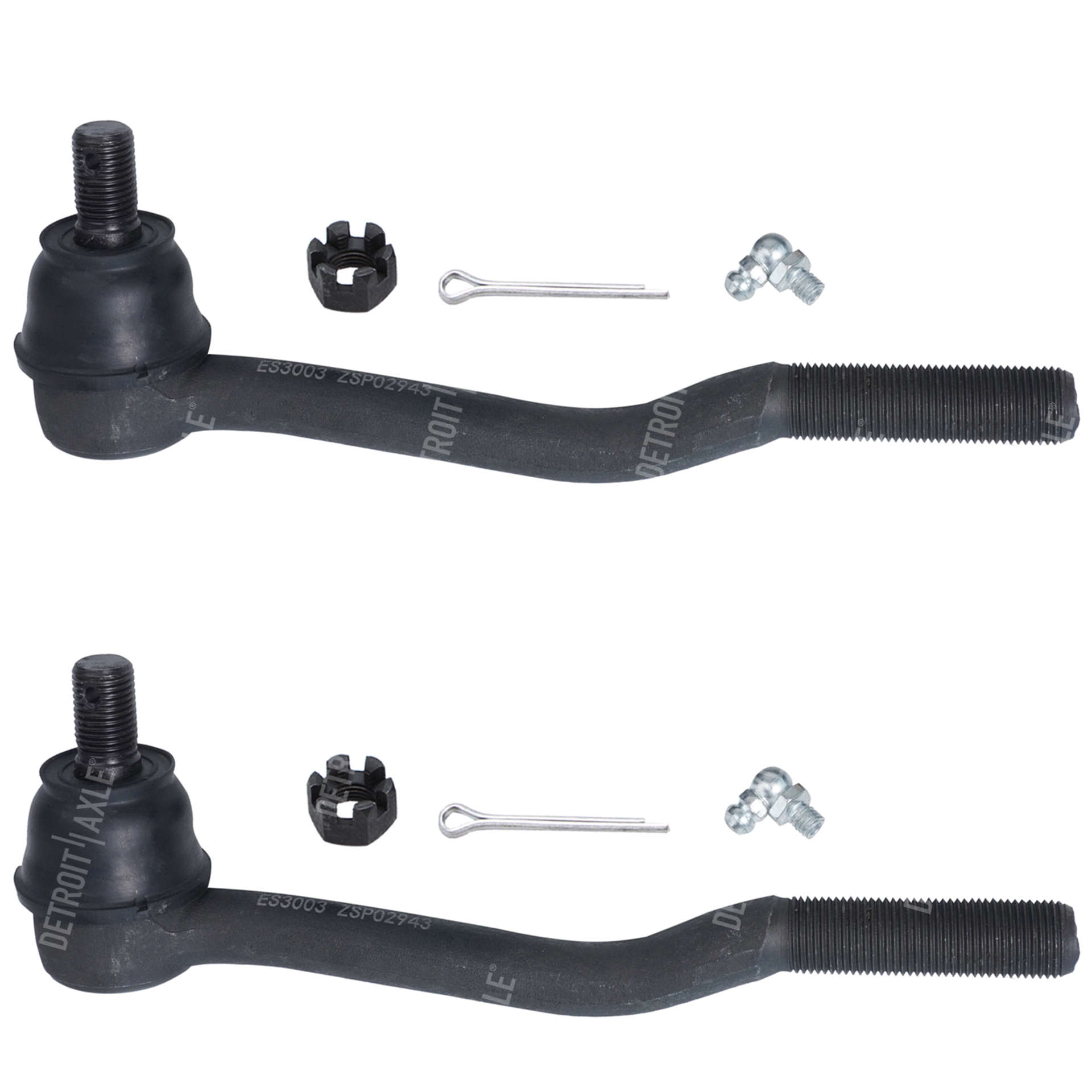 Front Driver and Passenger Inner Tie Rod Ends - Fits 4x4 Only