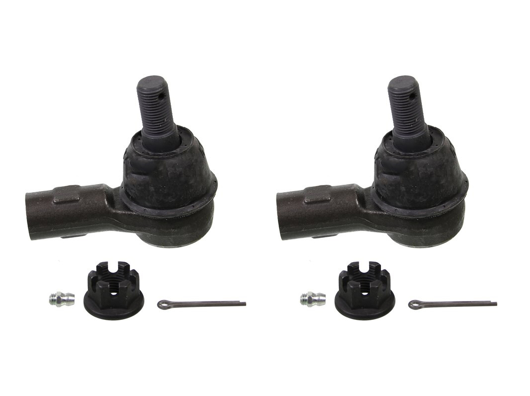 Detroit Axle - Pair (2) Front Outer Tie Rod End Link - Driver and Passenger Side - for Dodge Sprinter 2500 3500