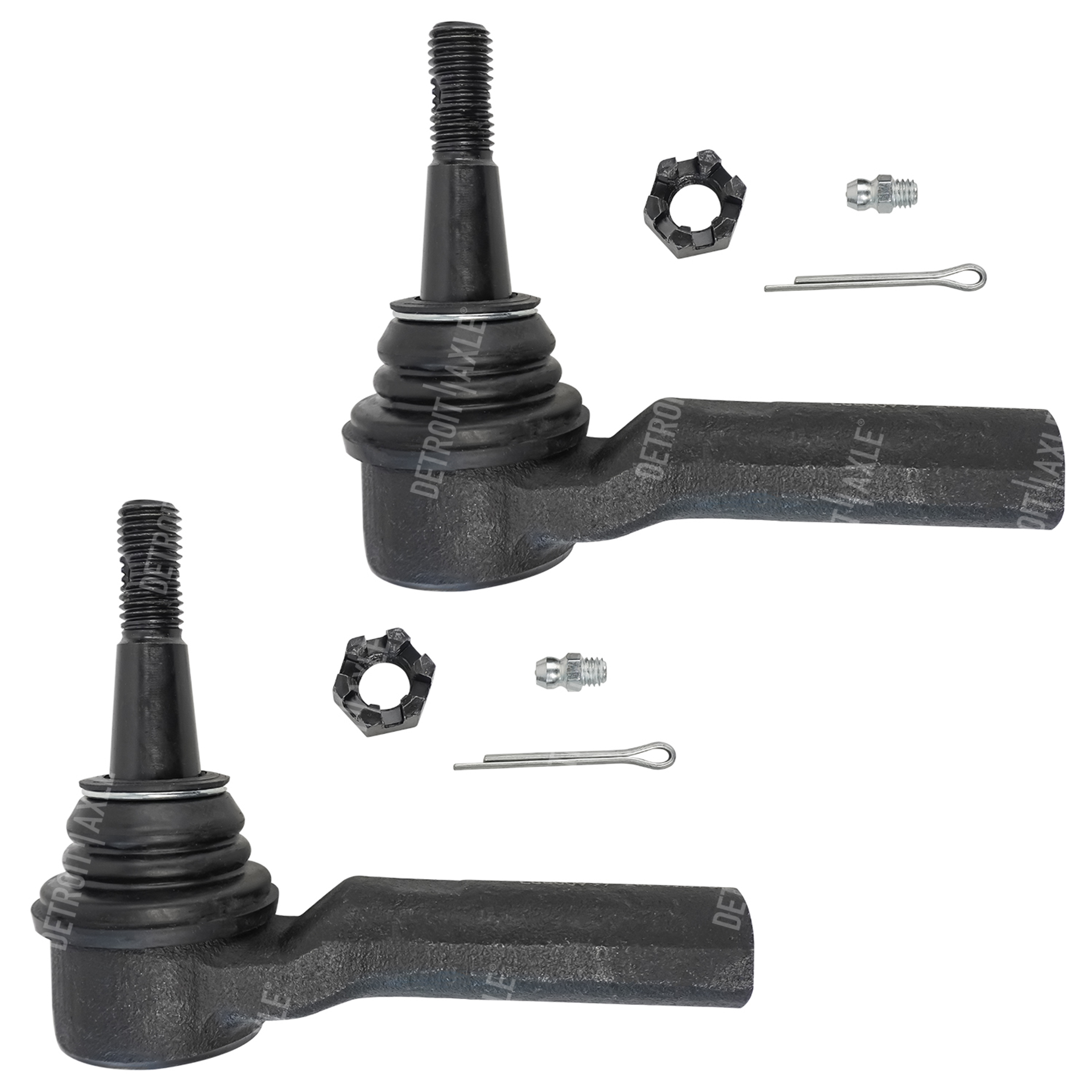 Pair (2) Front Steering Outer Tie Rod Ends Driver Side and Passenger Side for 2010-15 Chevy Camaro