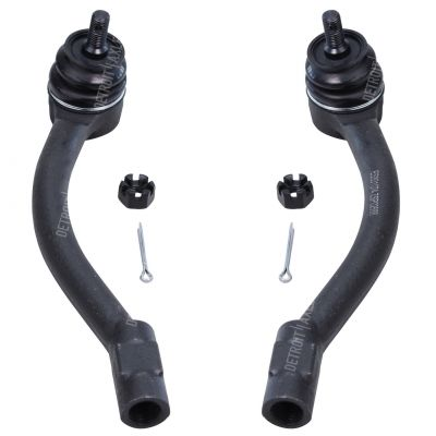 Pair (2) Front Outer Tie Rod End Driver and Passenger Side for 2011-2016 Hyundai Elantra - [2012-2017 Hyundai Veloster] - 2014-2018 Kia Soul