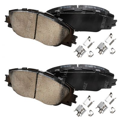 Front Brake Pad Set - 296mm Front Rotor - Ceremic