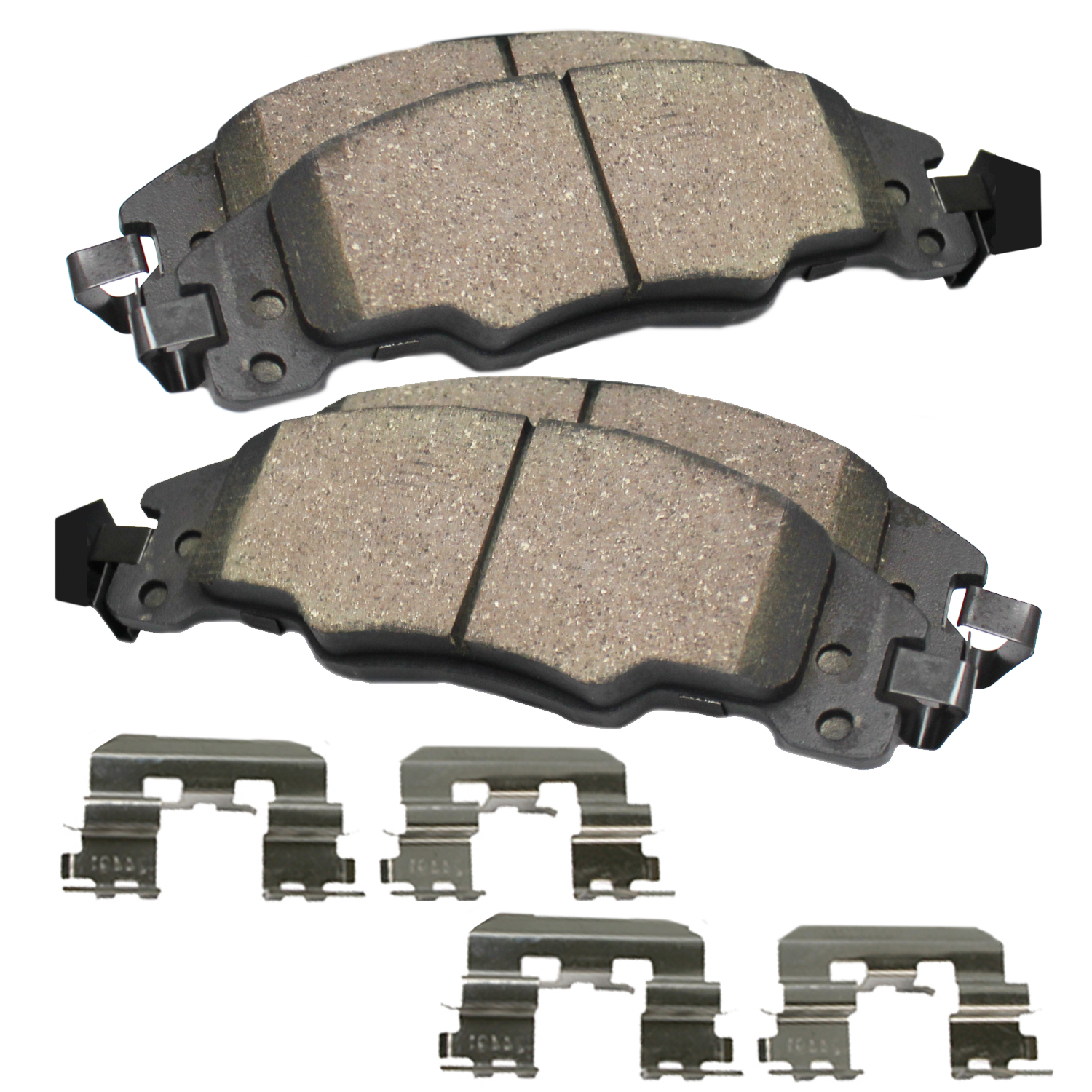 Rear Ceramic Brake Pads w/Hardware Kit for 1997-2013 Chevy Corvette - [2004-2009 Cadillac XLR]