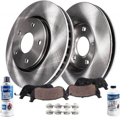 275mm Front Disc Brake Rotors and Ceramic Pads w/Hardware for Toyota Camry 4 CYL Models