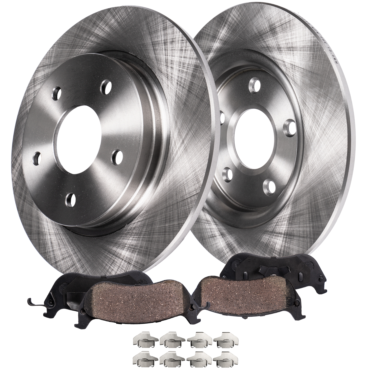 REAR Brake Rotors and Ceramic Brake Pad Kit WITH REAR DISC ONLY