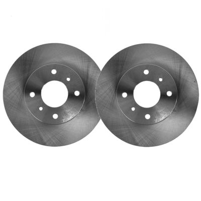 Front Disc Replacement Brake Rotors - 2000 2001 Hyundai Accent - 4 LUG