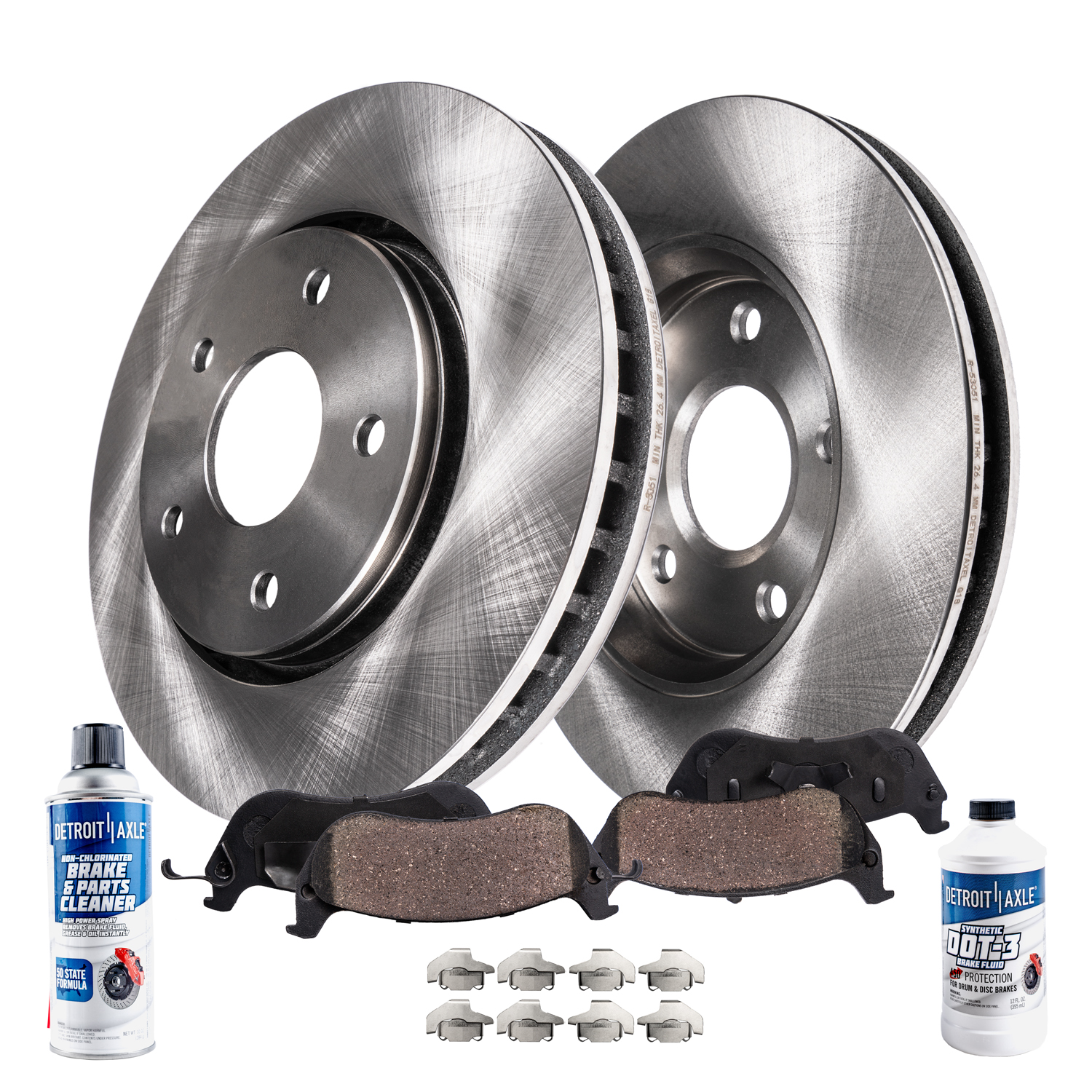 Brakes And Rotors >> Front Brake Pads And Rotors Kit For Prius V Xb Hs250h Detroit Axle