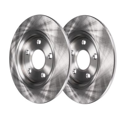 Front Disc Replacement Brake Rotors - SOLID TYPE - See Fitment