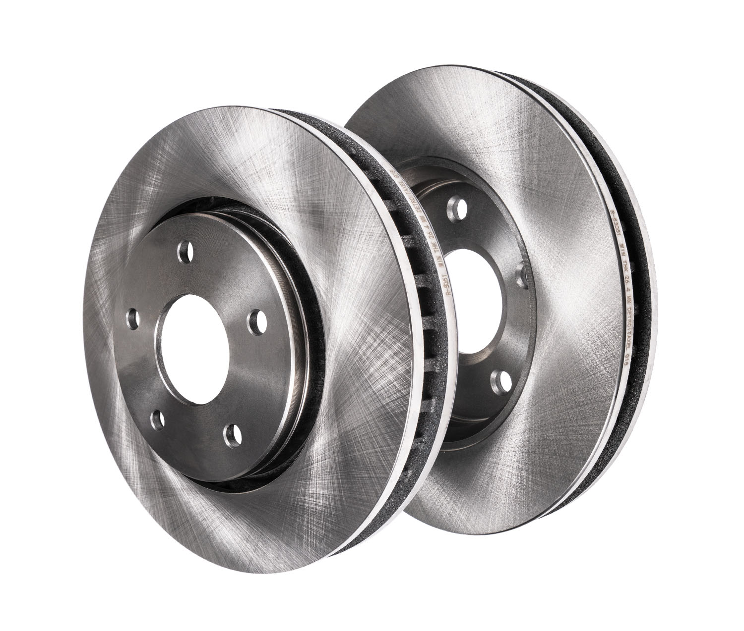 330mm Front Disc Replacement Brake Rotors - 2006 BMW 330i, 330xi - 5 LUG
