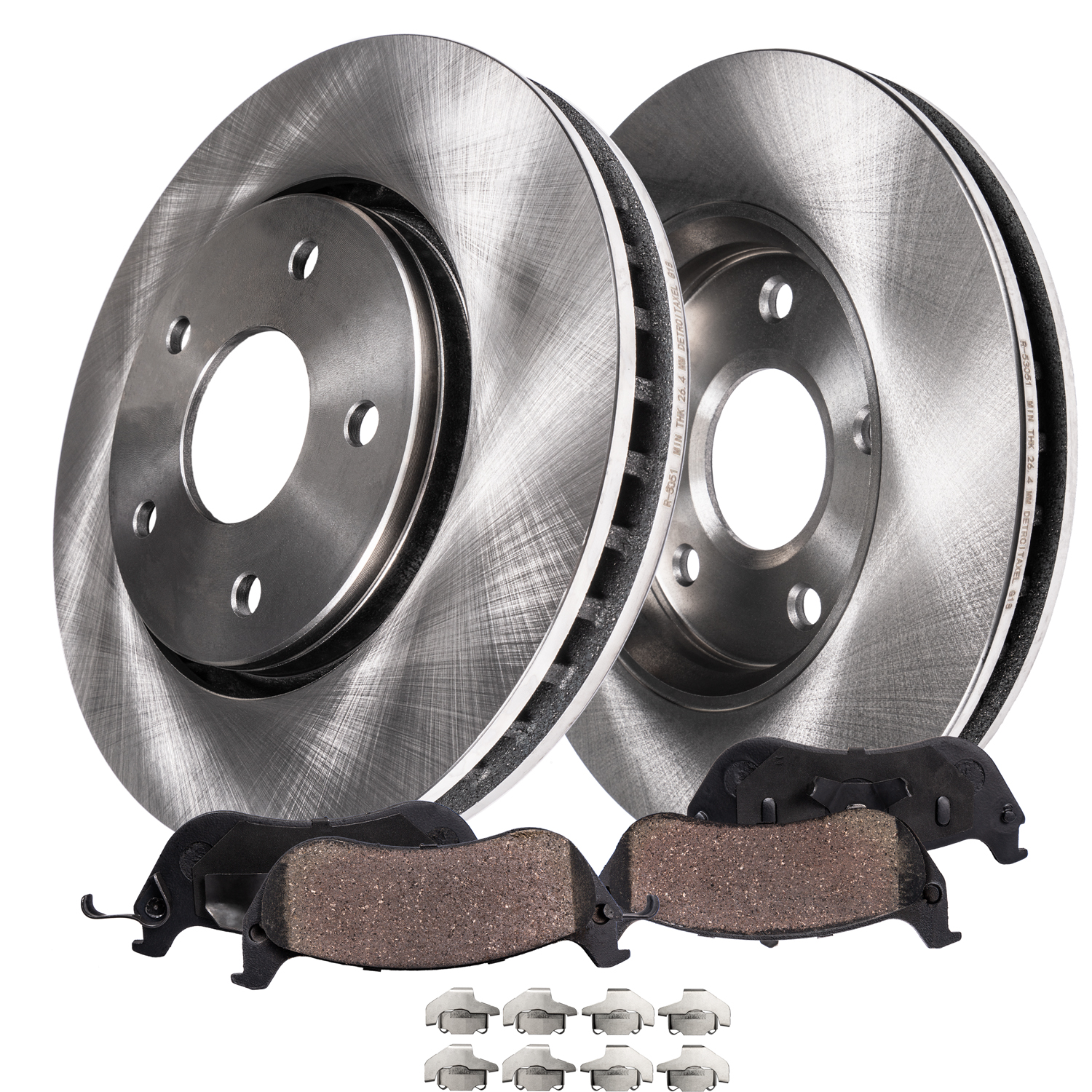 2011 2012 Fit Dodge Durango OE Replacement Rotors w//Ceramic Pads F+R See Desc.