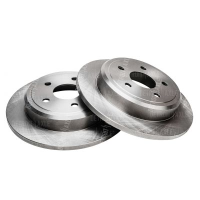 Rear Disc Replacement Brake Rotors Pair - 2005-2010 Jeep - See Fitment