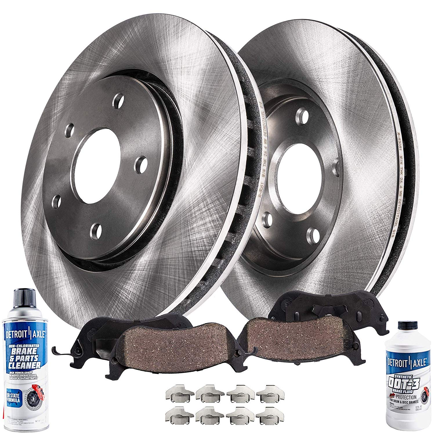 Brakes And Rotors >> Front Brake Pads And Rotor Kit For Dodge Grand Caravan Journey