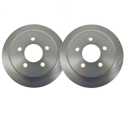 """Pair (2) 10.12"""" (257mm) 5 Lug Premium FRONT Brake Rotors Not for SRT or RT - See Fitment"""