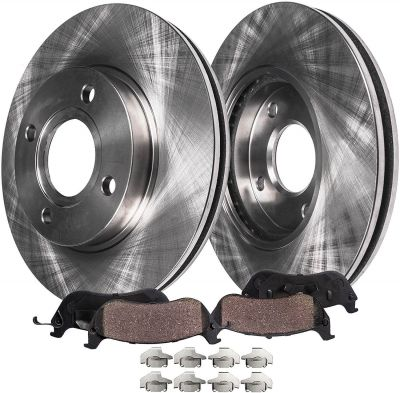 258mm Front Disc Brake Rotors & ; Ceramic Pads for Ford Fiesta - See Fitment