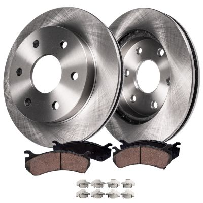 305mm Front Brake Rotors and Ceramic Brake Pad Kit for Cadillac, Chevy & GMC Models