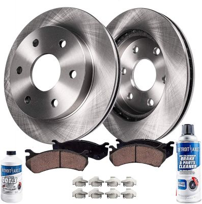 Front Brake Rotors and Ceramic Pads for Chevy Express GMC Savana 1500