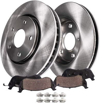 Front Disc Brake Rotors and Pads for Chevy Equinox, Pontiac Torrent, Saturn Vue