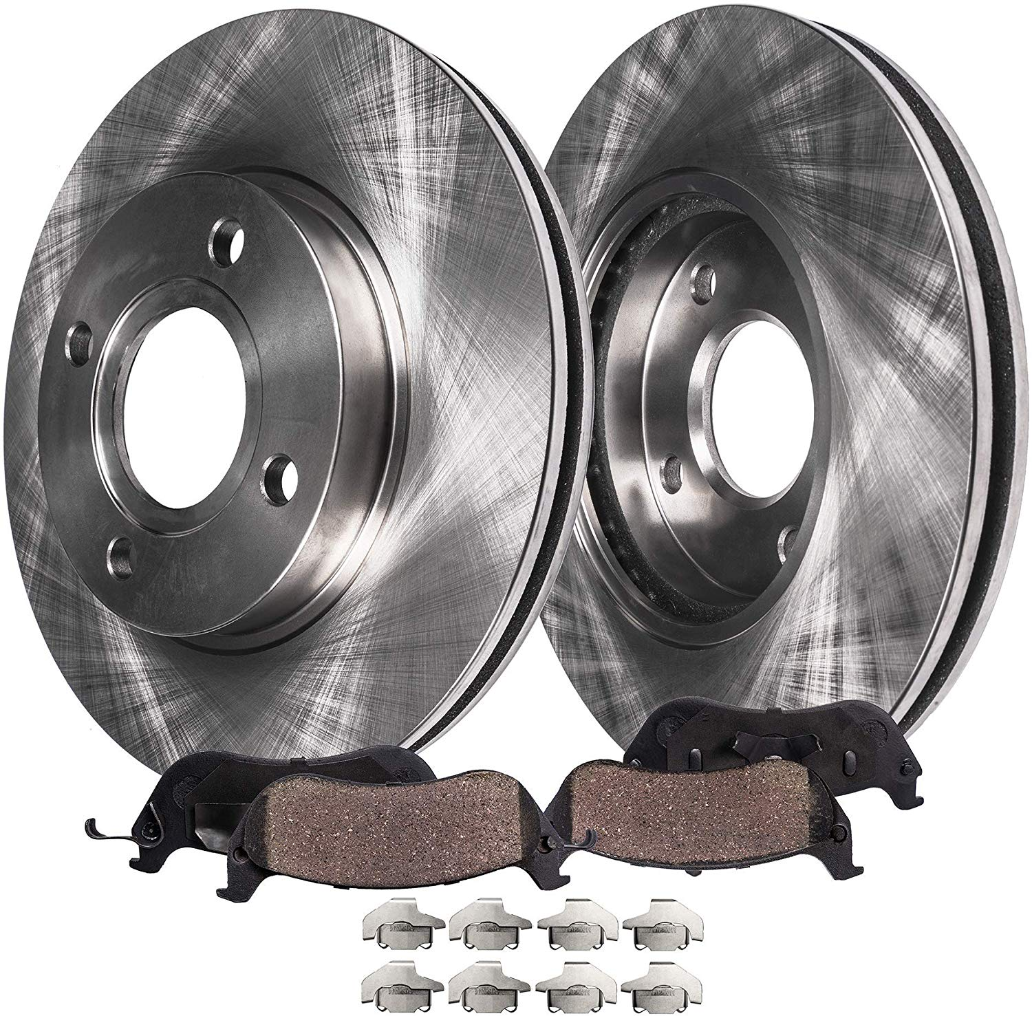 2007 2008 for Pontiac G5 Front Brake Rotors and Pads Rear Drums Shoes 4Lug