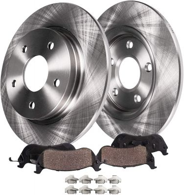 Rear Disc Rotors & Ceramic Pads for Buick Allure LaCrosse Chevy Impala Pontiac Grand Prix - 4pc Set
