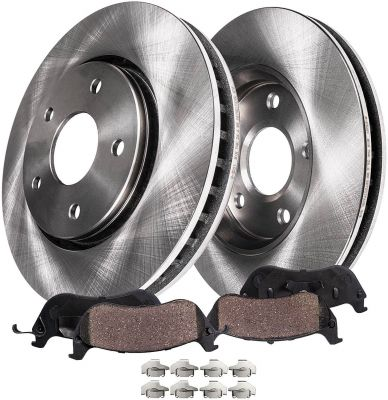 Front Disc Brake Rotor + Ceramic Pad for Buick Pontiac Chevy Saturn