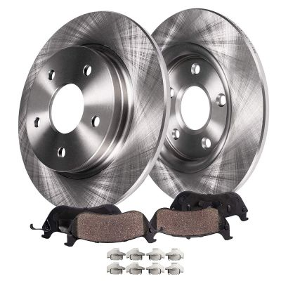 Rear Disc Brake Rotors + Ceramic Pads | Chevy Pontiac Saturn Models